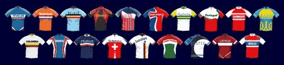 Cycling manager game national shirts